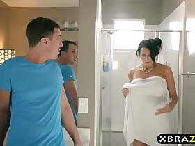 Huge boobies stepmom considering a breast reduction