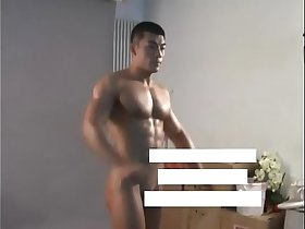 Meili Series - Muscular Jock Hunk Showing His Hot Body ( Behind The Scene )
