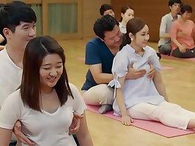 Funny Yoga art and boobs grabbing