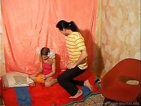 Step father forced his teen step daughter to fuck