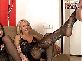 Mistress Lera and Mistress Julia Foot Femdom