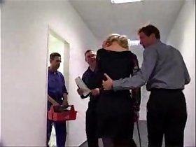 German Secretary forced to blow boss