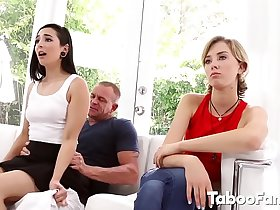 Stepdad Gets a Surprise from his Cute Stepdaughter