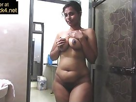 Mature Indian Mom Pressing Big Desi Tits In Shower Masturbation