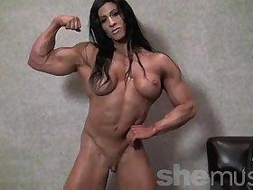 Angela Salvagno Naked Female Bodybuilder Strip
