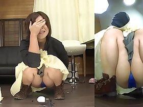 Subtitled Japanese amateur pee desperation failure in HD