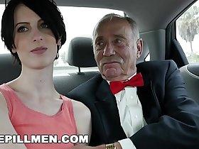 BLUE PILL MEN - Dirty Old Men Stick Their Dirty Old Dicks In Alex Harper's Ass