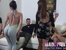 The masked girl reveals herself and starts an WONDERFUL ORGY!!!