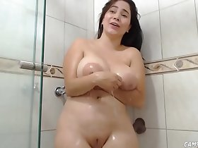 Curvy Chubby Teen Slutting In Shower